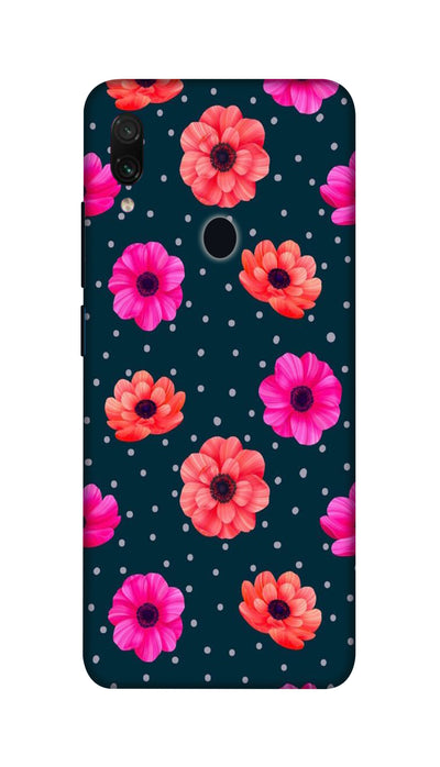 Pink and Orange Flower Hard Case For Redmi Note 7 Pro