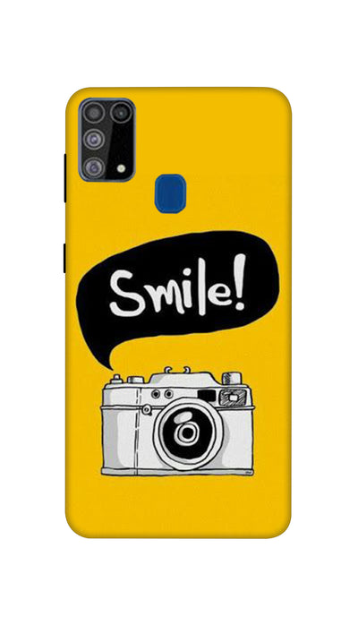 Smile with Camera Hard Case For Samsung M31