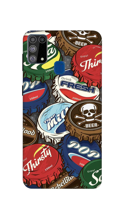 Different drink lids Hard Case For Samsung M31