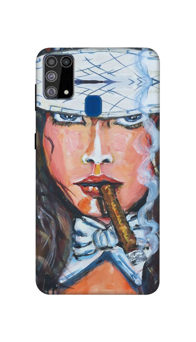 Cigar Girl Hard Case For Samsung M31