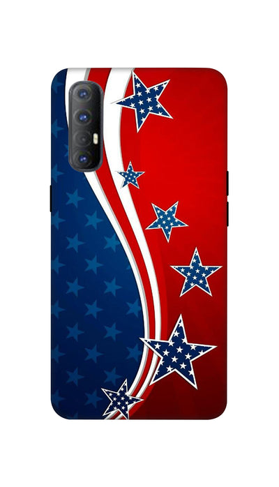 Usa Flag Hard Case For Oppo Reno 3 Pro