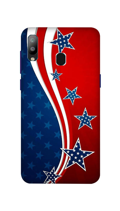 Usa Flag Hard Case For Samsung A40