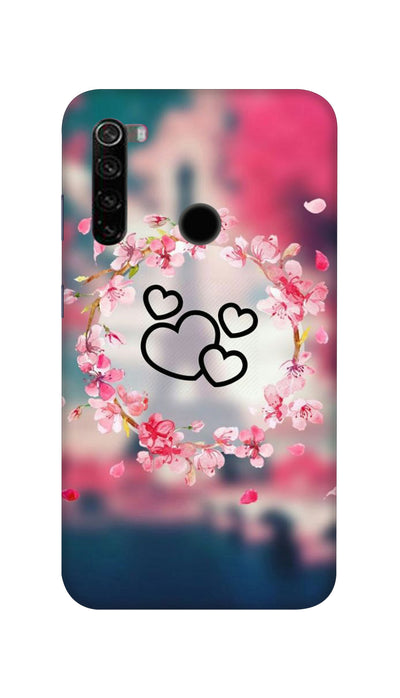 Flowering Hearts Hard Case For Mi Redmi Note 8