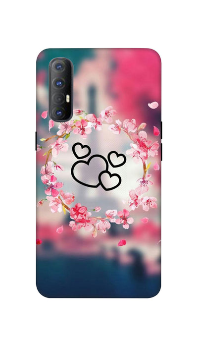 Flowering Hearts Hard Case For Oppo Reno 3 Pro