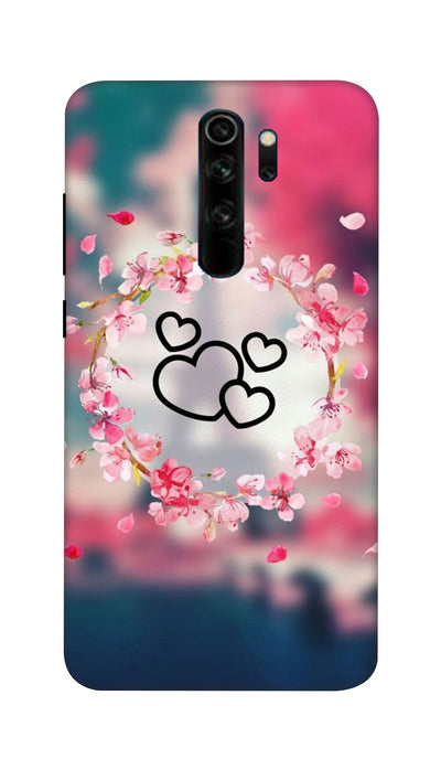 Flowering Hearts Hard Case For Mi Redmi Note 8 Pro