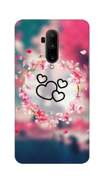 Flowering Hearts Hard Case For OnePlus 7T Pro