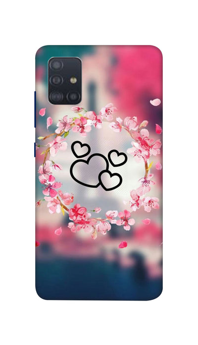 Flowering Hearts Hard Case For Samsung A51