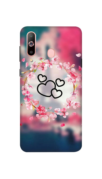 Flowering Hearts Hard Case For Samsung A60