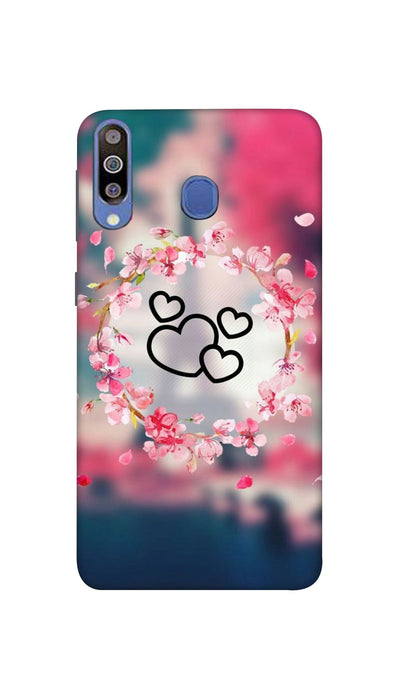 Flowering Hearts Hard Case For Samsung M40