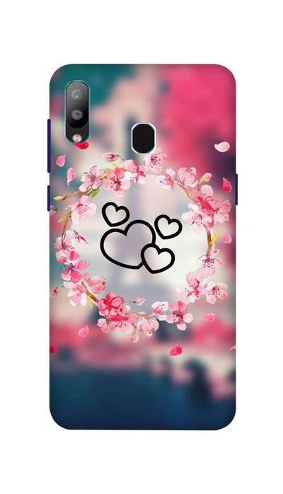 Flowering Hearts Hard Case For Samsung A40
