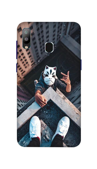 Attitude White Mask Hard Case For Samsung A40