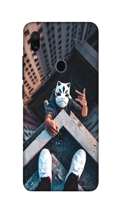 Attitude White Mask Hard Case For Redmi Note 7 Pro