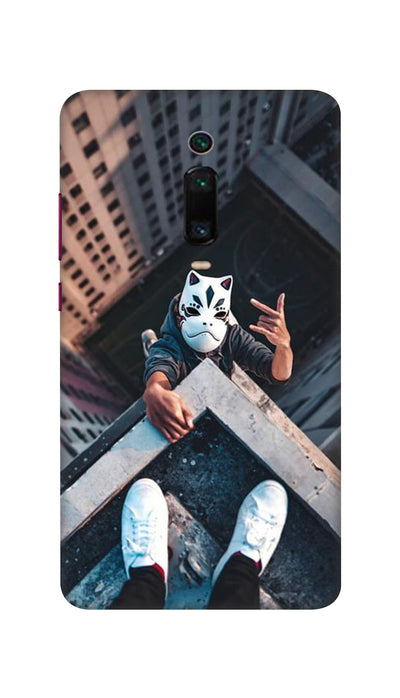 Attitude White Mask Hard Case For Mi Redmi K20 Pro