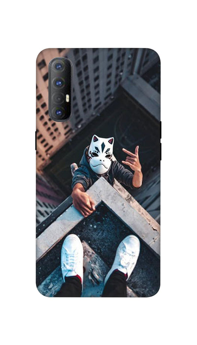 Attitude White Mask Hard Case For Oppo Reno 3 Pro