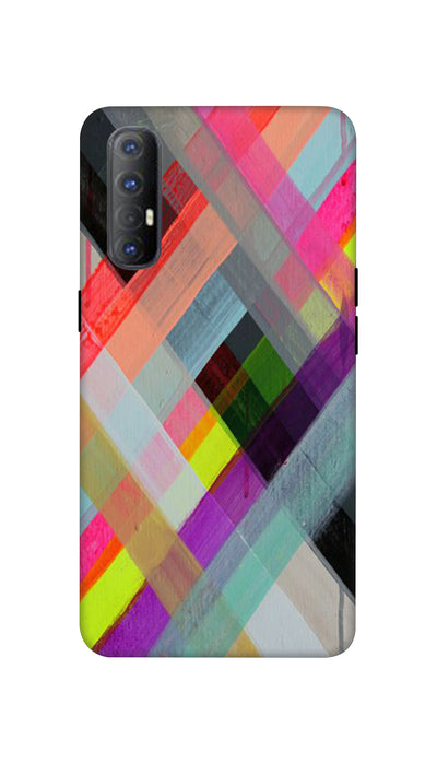 Colored Lines Hard Case For Oppo Reno 3 Pro
