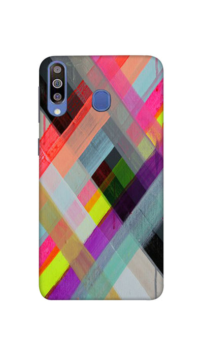 Colored Lines Hard Case For Samsung M40