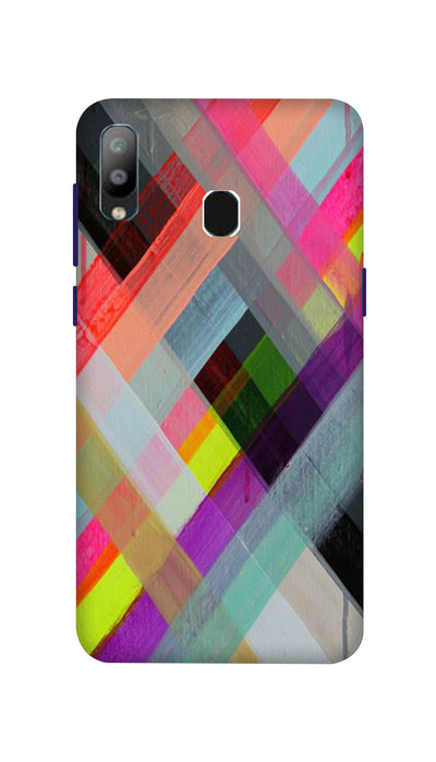 Colored Lines Hard Case For Samsung A40