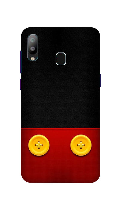 Yellow buttons Hard Case For Samsung A40