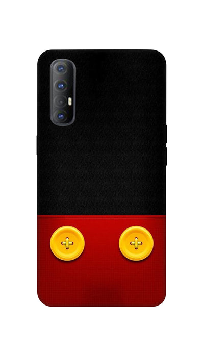 Yellow buttons Hard Case For Oppo Reno 3 Pro