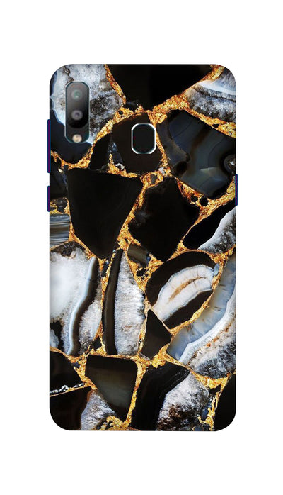 Golden Outline Hard Case For Samsung A40