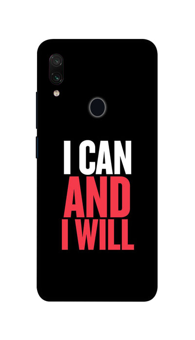 I Can And I Will Hard Case For Redmi Note 7