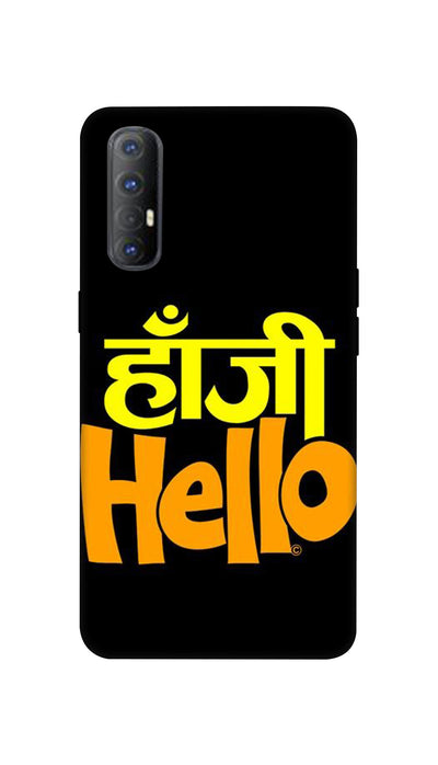 Hanji Hello Hard Case For Oppo Reno 3 Pro