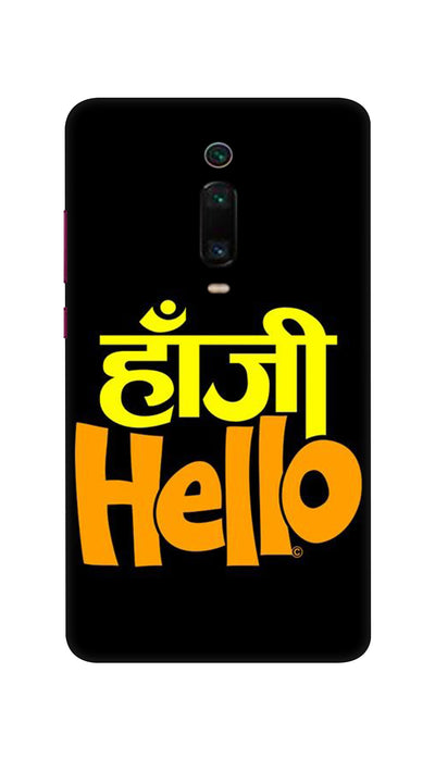 Hanji Hello Hard Case For Mi Redmi K20 Pro