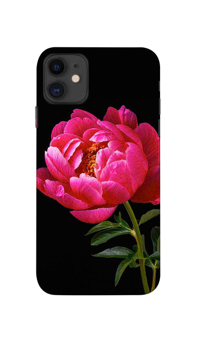 Red Flower Hard Case For Apple iPhone 11