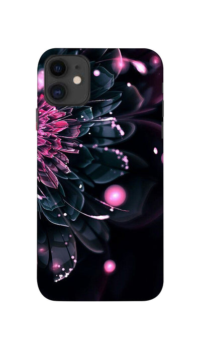 Half Flower Hard Case For Apple iPhone 11