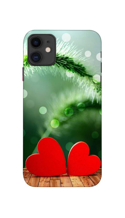 Two love heartz Hard Case For Apple iPhone 11