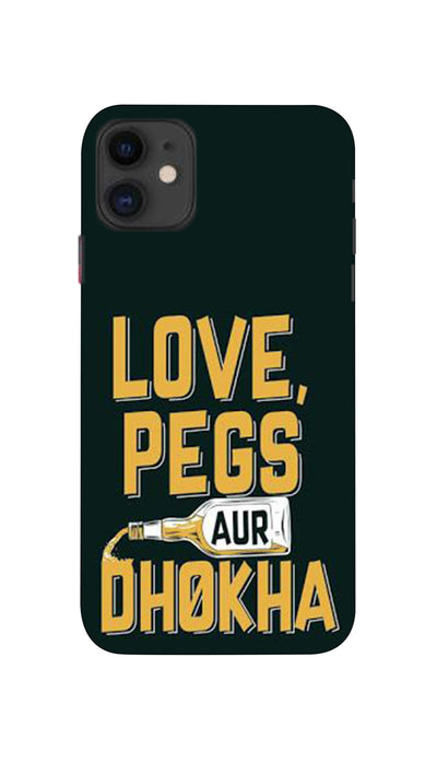 Love,Pegs aur Dhokha Hard Case For Apple iPhone 11
