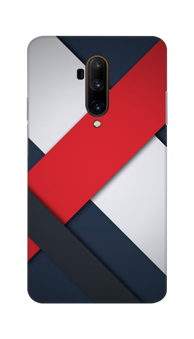 Line Pattern Hard Case For OnePlus 7T Pro
