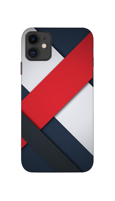 Line Pattern Hard Case For Apple iPhone 11