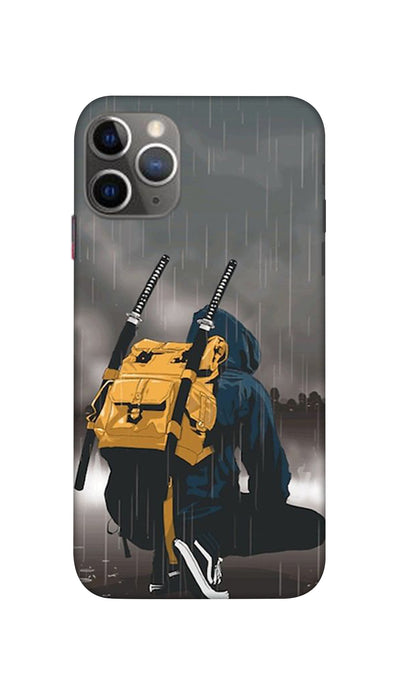 Man In Rain Hard Case For Apple iPhone 11 Pro