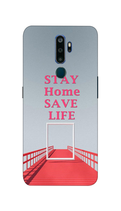 Stay Home Design Hard Case For Oppo A5 ( 2020 )