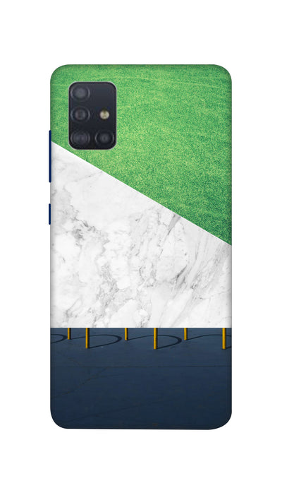 White And Green marbel  Hard Case For Samsung A51