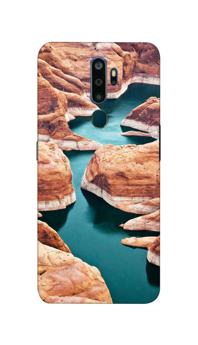 Watter Fall Hard Case For Oppo A5 ( 2020 )