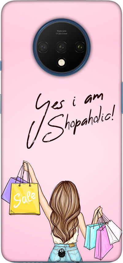 YES I AM SHOPOHOLIC Hard Case For One plus 7T