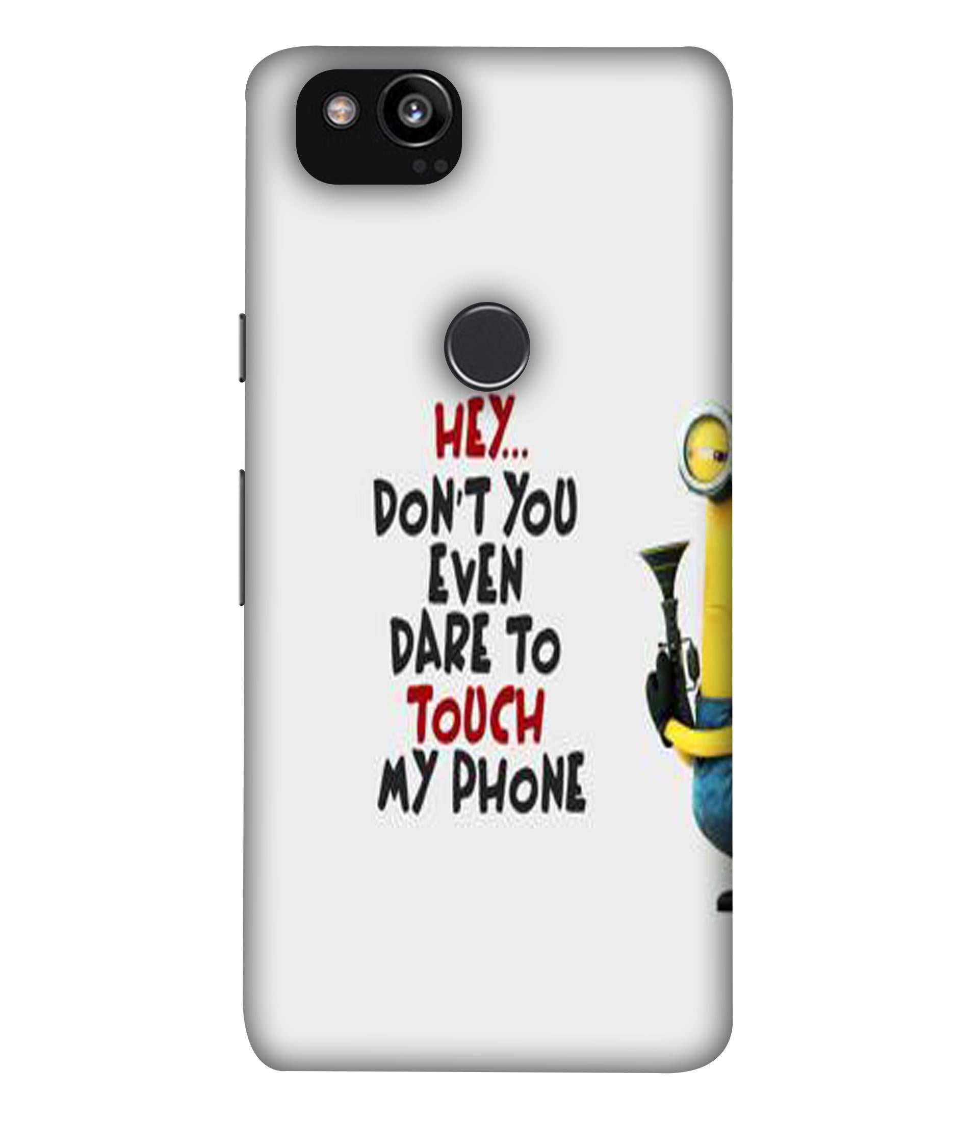 GooglePixel2XL Minions Attitude Designed Back Cover