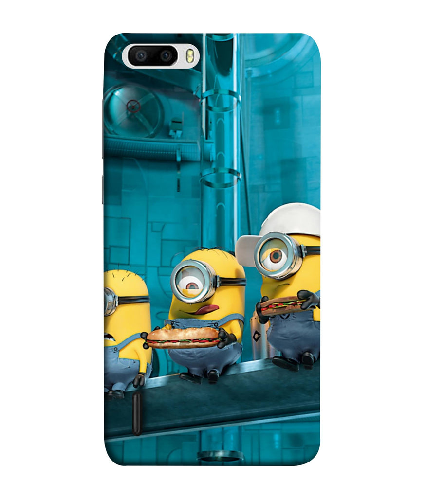 Honor6 Plus Minions Wall Designed Back Cover