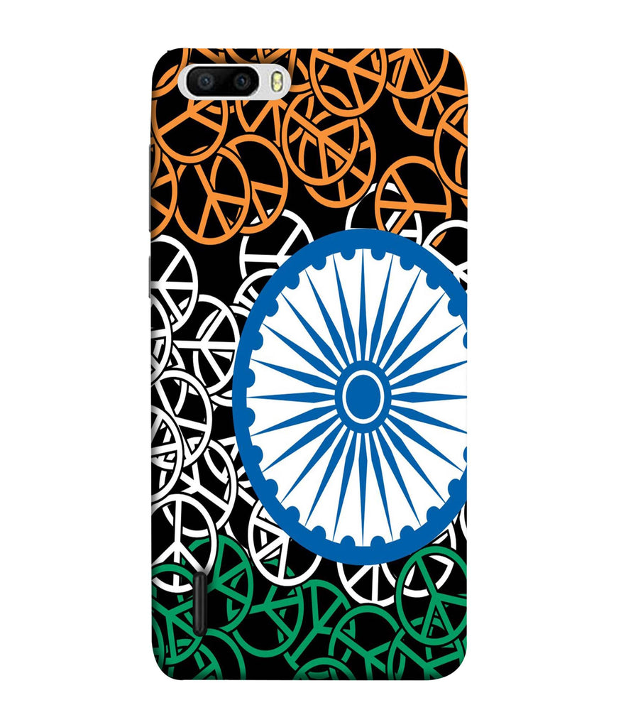 Honor6 Plus Flag On Wheels Designed Back Cover