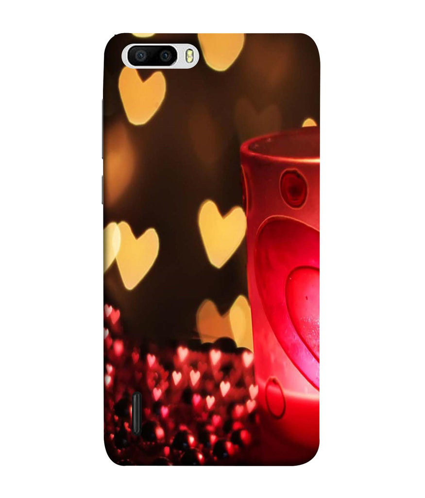 Honor6 Plus Candle Night Love Designed Back Cover