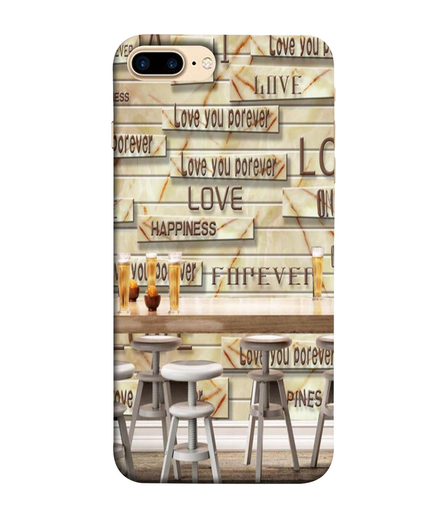 iPhone7 Plus CafŽ Love Forever Designed Back Cover
