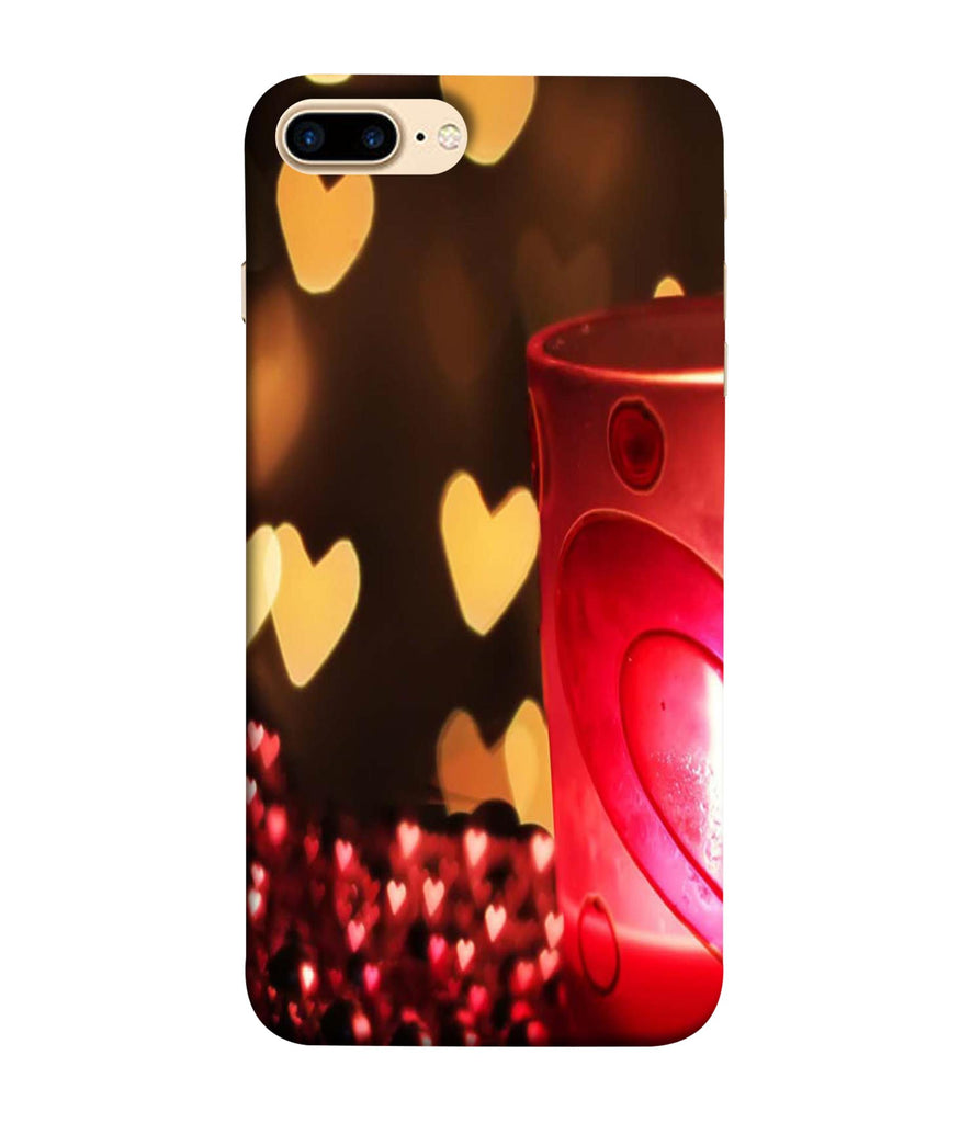 iPhone8 Plus Candle Night Love Designed Back Cover