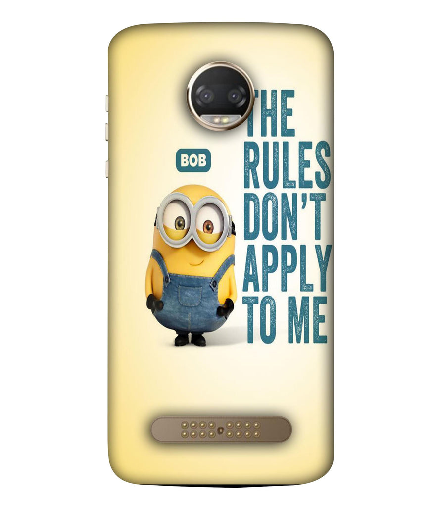 MOTOX4  Minions Quoted Designeed Back Cover