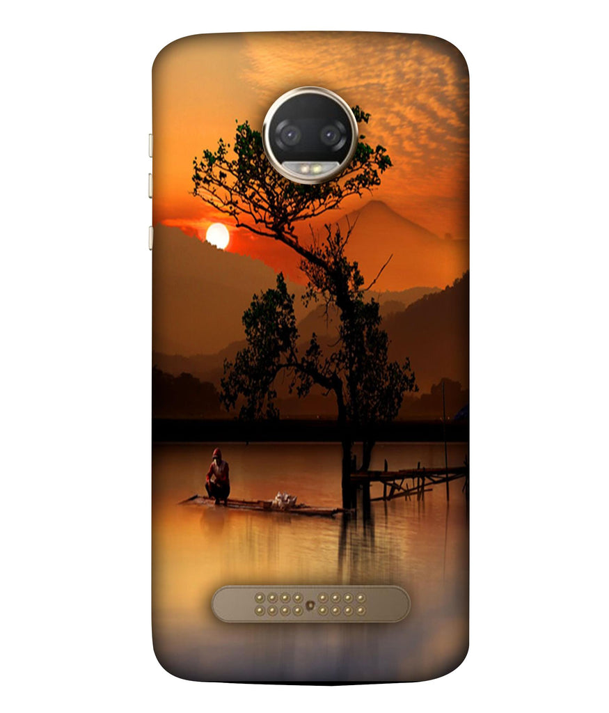 MOTOX4 Sunset View Designeed Back Cover