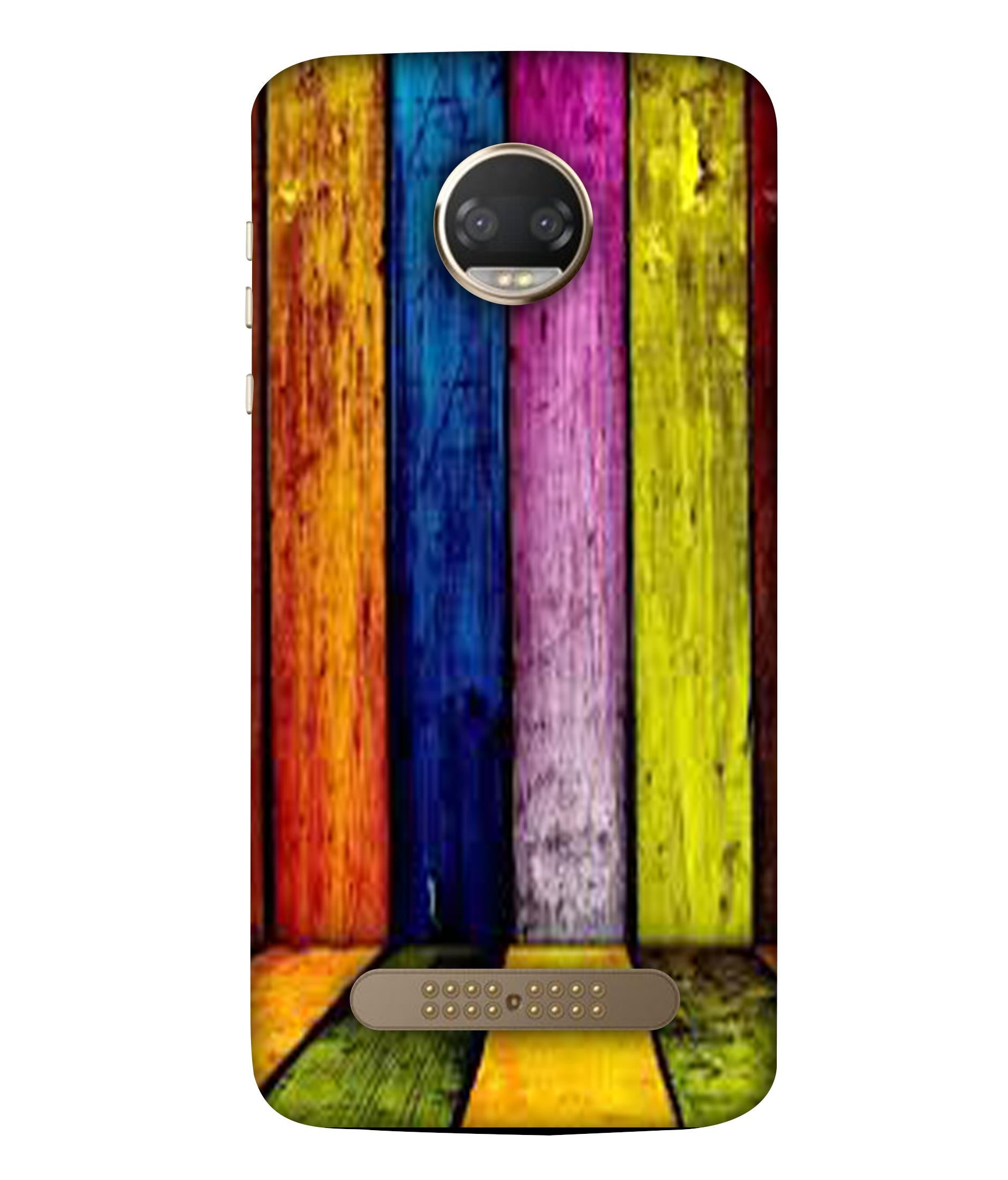 MOTOX4  Coloured Wooden Lines Designeed Back Cover