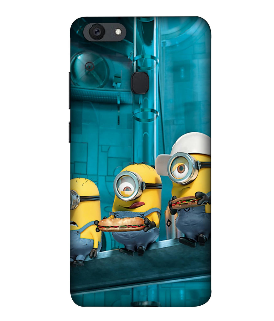 OPPOF5 Minions Wall Designed Back Cover