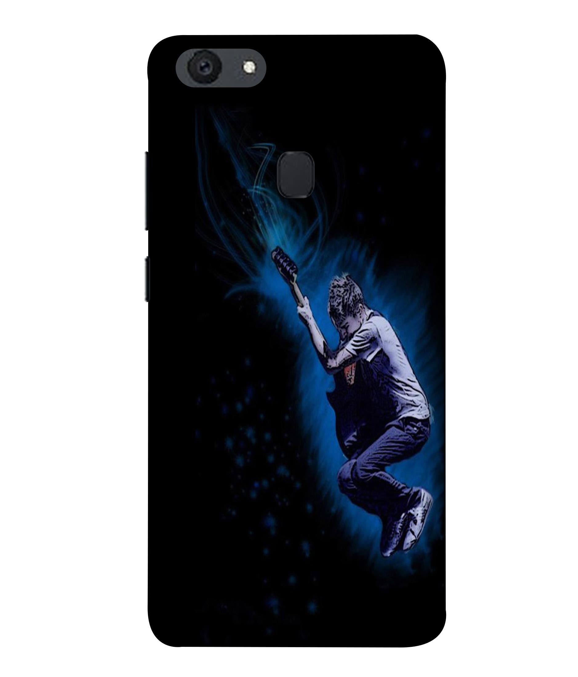OPPOF5 Premium Styled Guitar Designed Back Cover