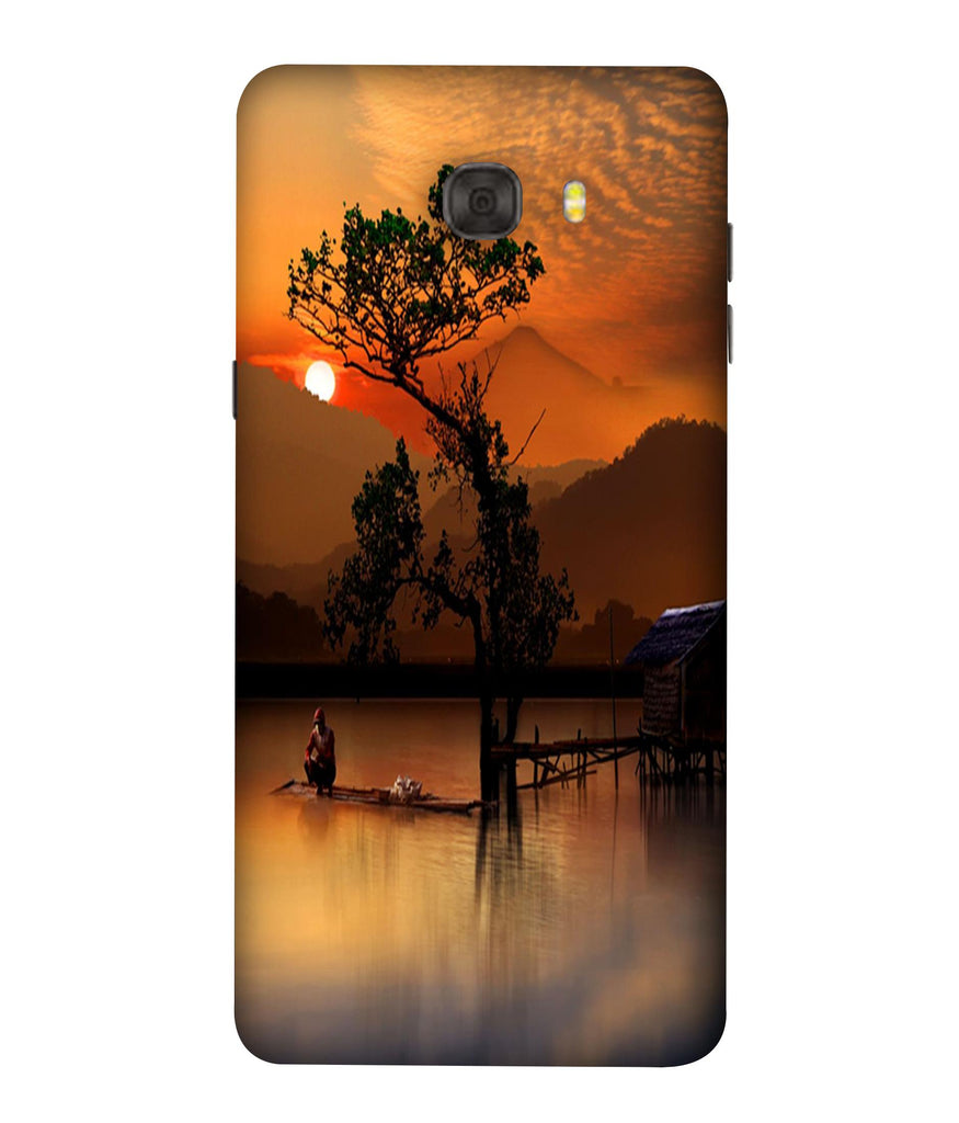 SAMSUNGC7PRO Sunset View Designed Back Cover